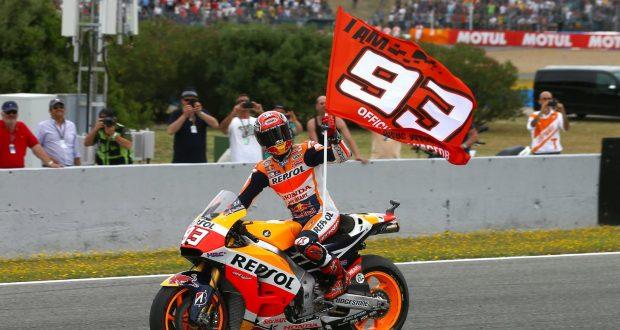 Fortuna Marquez! fortuna marquez! Fortuna Marquez! marc marquez flies the flag high at jerez 620x330